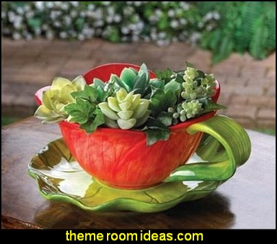Home Garden Water Lily Pad Flower Herb Pot Planter