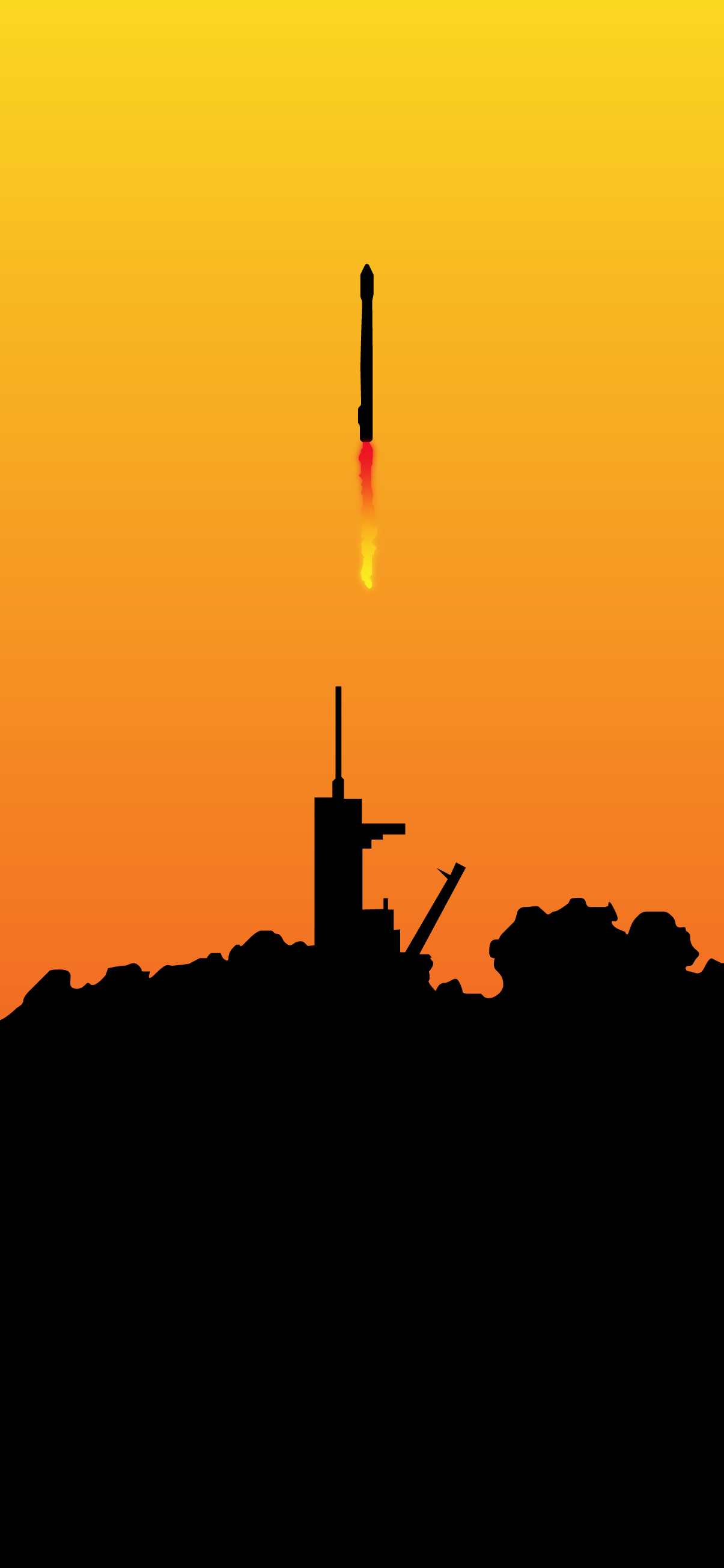 SPACEX FALCON 9 LAUNCH MINIMALISTIC WALLPAPER IPHONE 4K