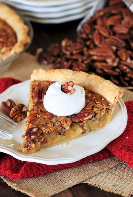 Slice of Pecan Pie Made with Vanilla Pudding Mix Image