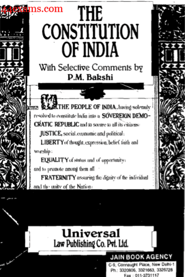 The-Constitution-of-India-by-P.-M.-Bakshi-For-UPSC-Exam-PDF-Book