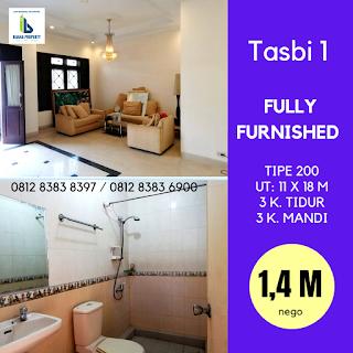Rumah Second Murah FULLY FURNISHED, kondisi cantik, mulus, terawat di Tasbi 1 Medan