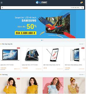 Giao diện blog Mobile bán hàng