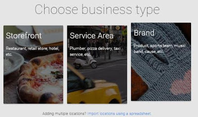 category of Google+ plus business page.