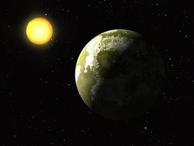 恒星と惑星(素材