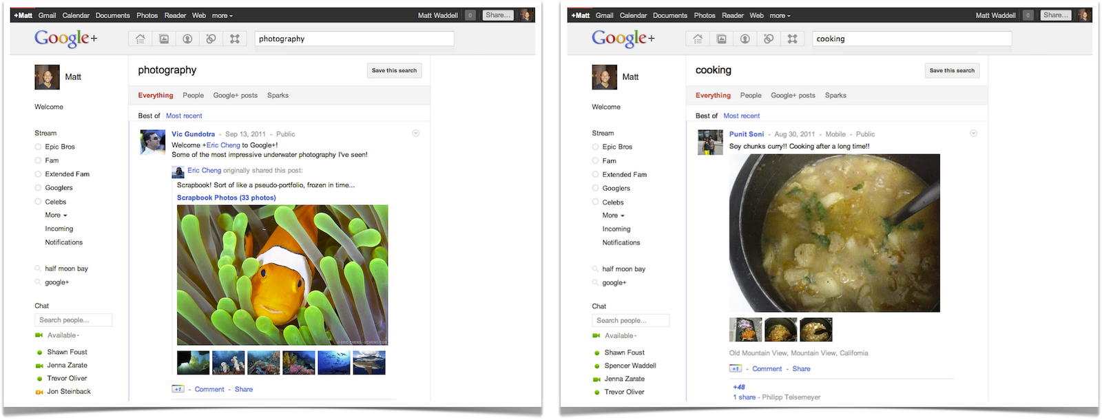 +Search: find the people and posts you care about