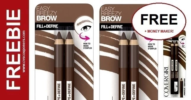 FREE Covergirl Easy Breezy Brow Pencils at CVS