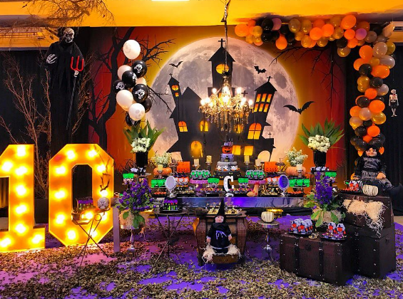 15 ideas para tu mesa de dulces de halloween for Decoracion fiesta halloween