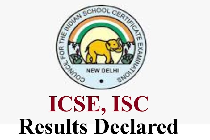 Congratulations to the Chief Minister on the results of ICSE and ISC published