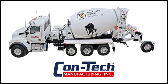 Kenworth T880S with Con-Tech BridgeKing Mixer