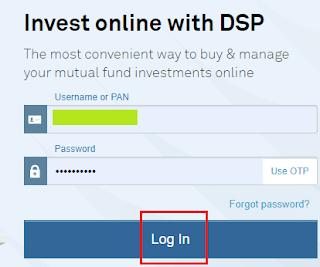 DSP MF- Login Page