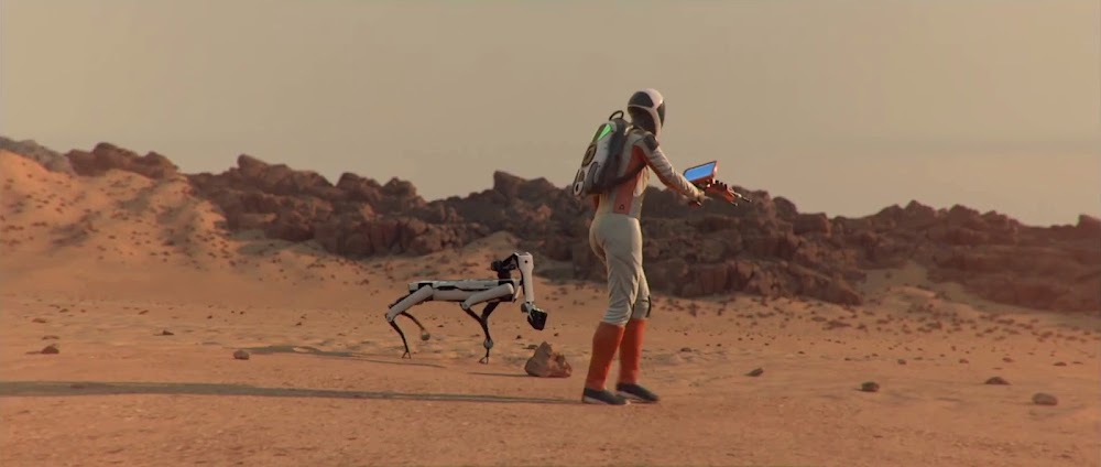 Astronaut's best friend - robodog - image from Occupy Mars game
