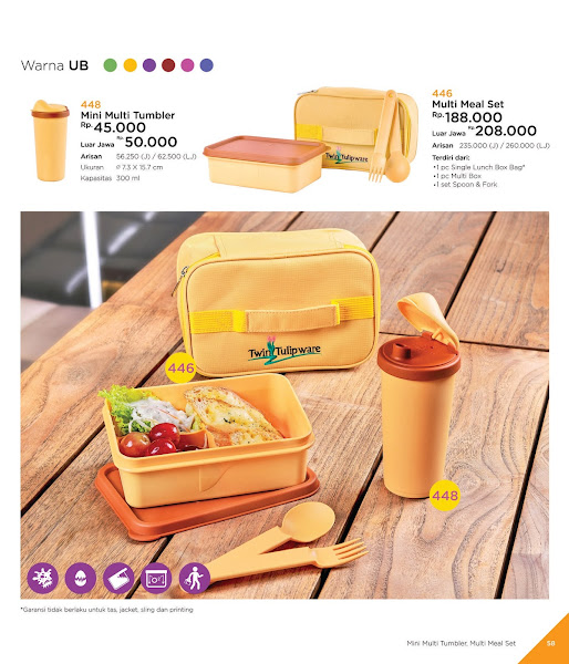 Mini Multi Tumbler. Multi Meal Set, Katalog Tulipware 2019