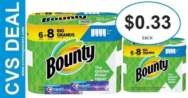 Bounty & Crest CVS Gift Card Deals