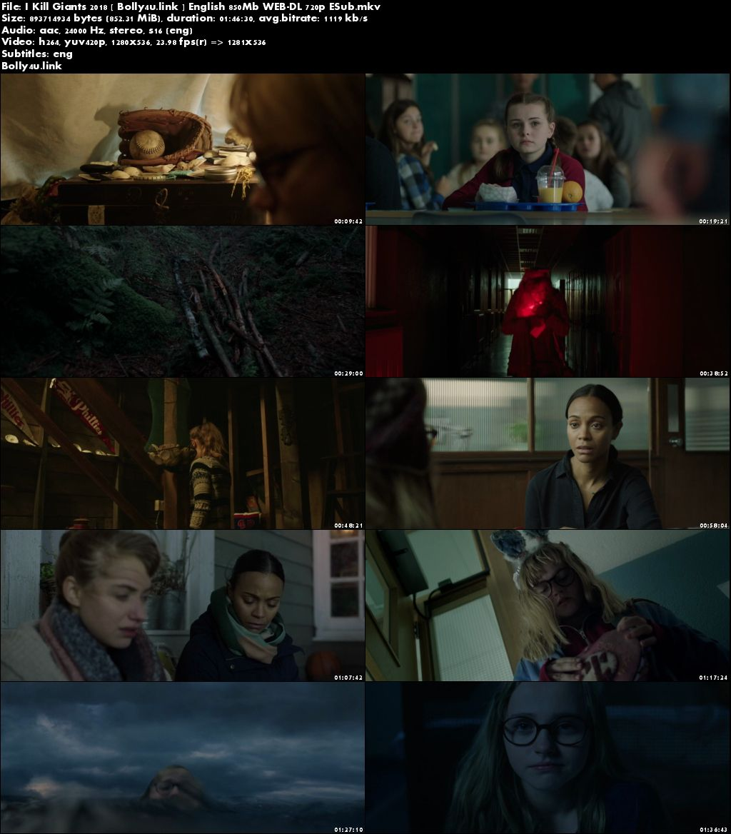 I Kill Giants 2018 WEB-DL 850MB English 720p ESub Download