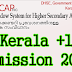 Kerala Plus One (+1) Admission 2015-16 | www.hscap.kerala.gov.in