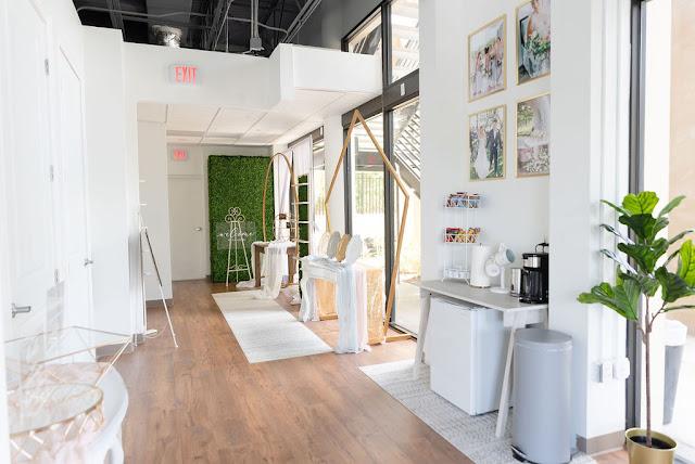 At Last Wedding Studio hallway area