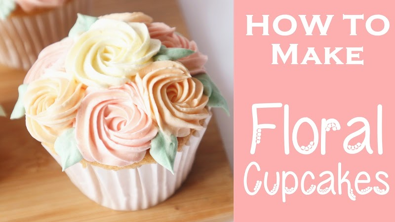 Mather's Day Floral Cupcakes 母親節玫瑰花杯子蛋糕