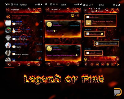 BBM Mod Droid Chat! v2.13.1.14 Legend of Fire