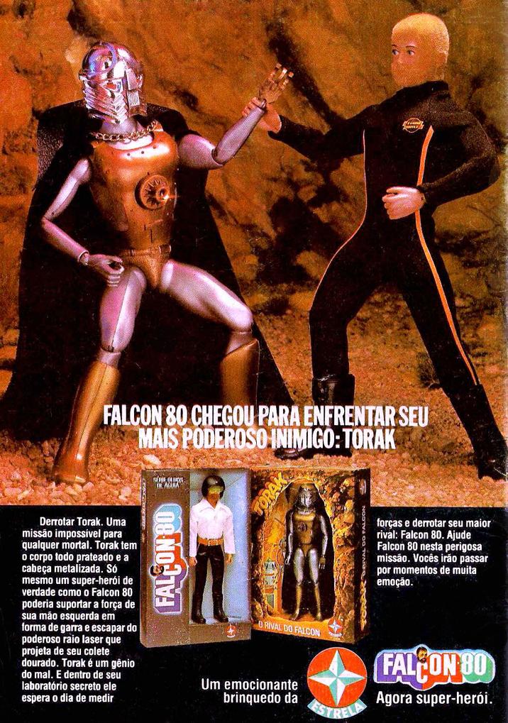Propaganda antiga da Estrela promovendo o Falcon em 1979