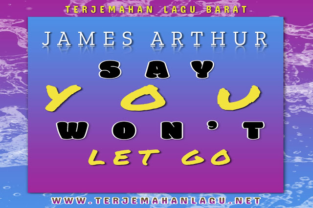 Terjemahan Lagu James Arthur Say You Won't Let Go