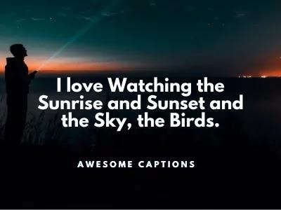 sunset quotes instagram