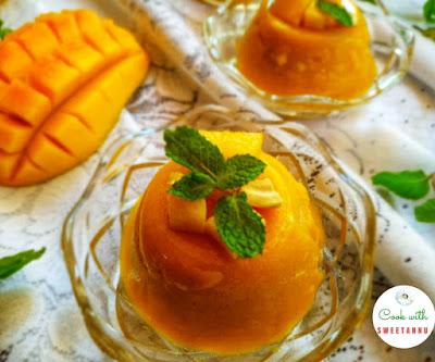silky Mango pudding