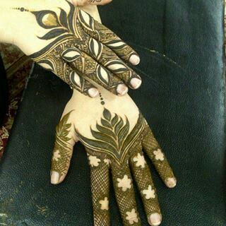 Brown Arabic Henna Mehndi Designs For Hands