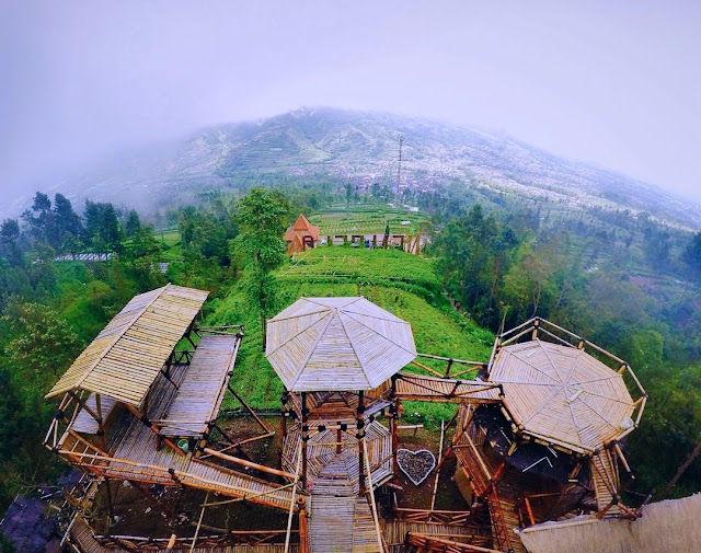 Lokasi Oemah Bamboo Merapi Boyolali Harga Tiket Masuk Terbaru