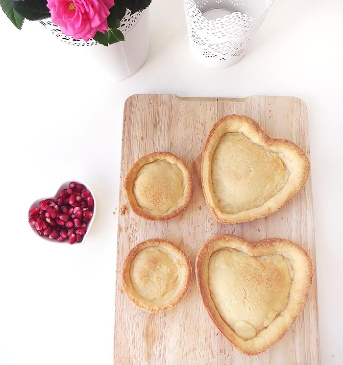 Granatapfel Tarte leicht und lecker mit Joghurt und Mandel