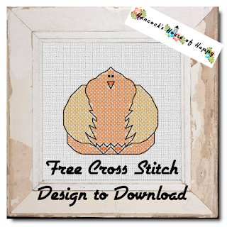 big beautiful chicken cross stitch chart