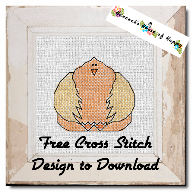 Big Beautiful Chicken Cross Stitch Design Free to Download