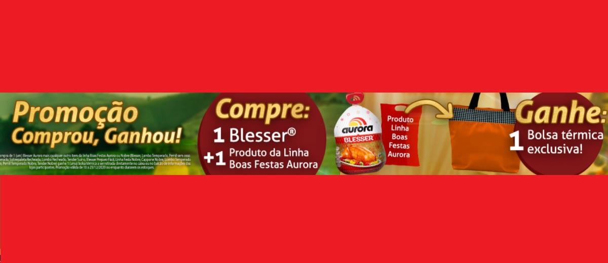 Promoção Natal 2020 Aurora Alimentos Comprou Ganhou Bolsa Térmica