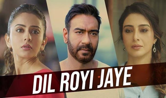 दिल रोयी जाये Dil Royi Jaye Lyrics – De De Pyaar De