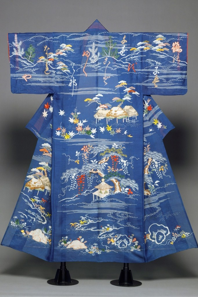 silk kimono from the second half of the18th century