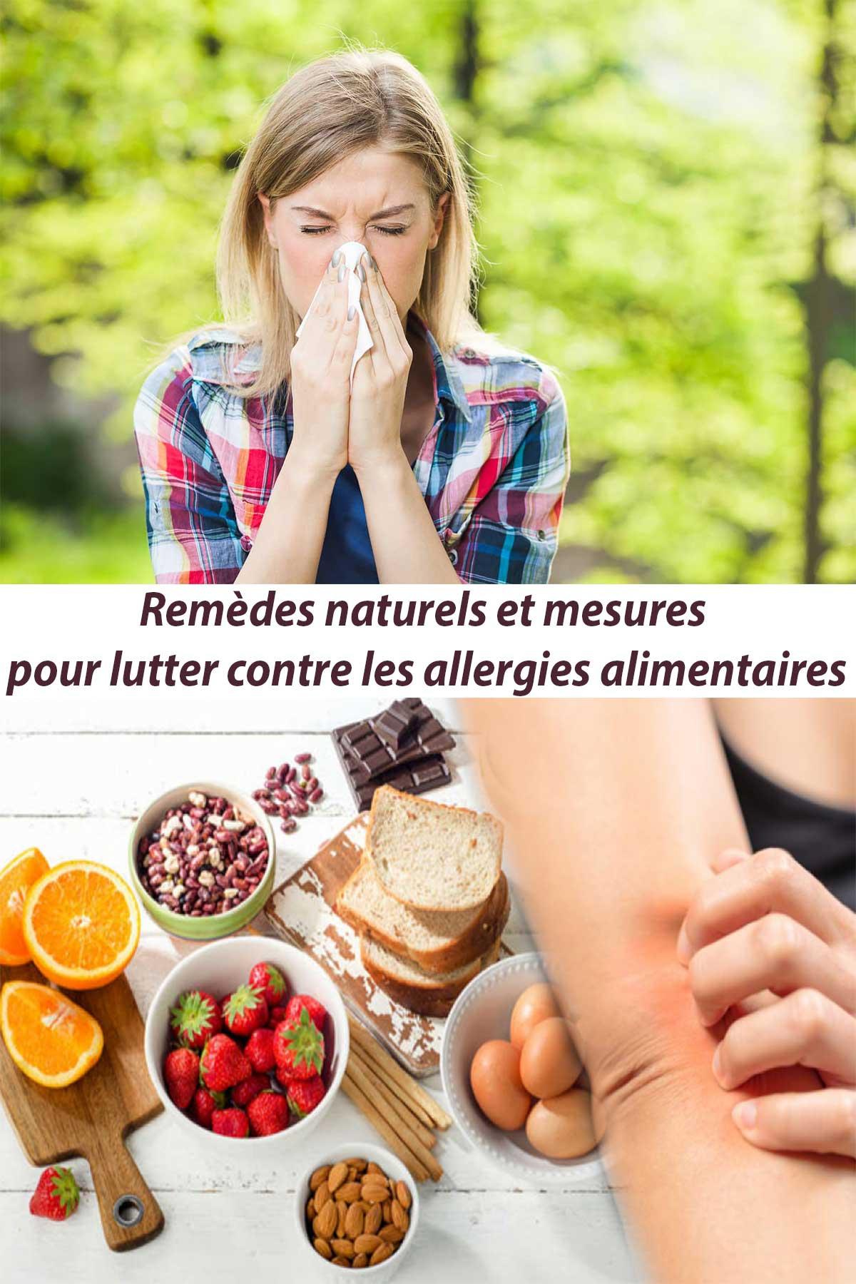 Remèdes naturels et mesures pour lutter contre les allergies alimentaires