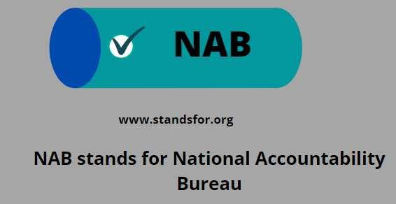 NAB-national accountability bureau