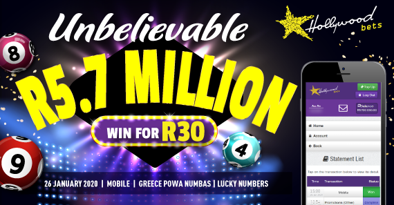 R5.7m Won for R30 (Lucky Numbers)