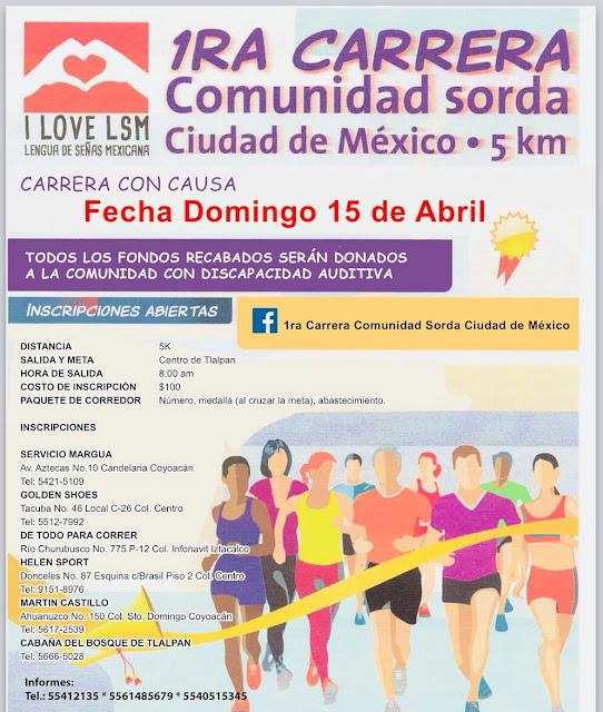 Carerra 5k Comunidad Sorda CDMX