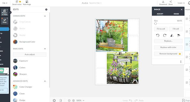 Photo of Picmonkey collage screen print
