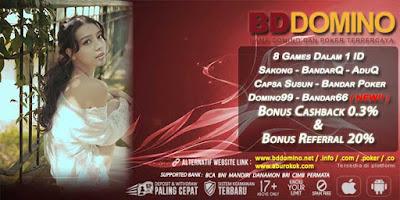 Promo Bonus Judi BandarQ Online Terpercaya BDdomino