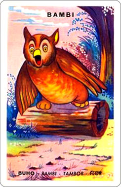 Juego Familias Walt Disney Carta Bambi 3