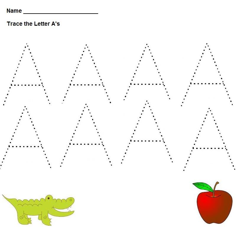 Imagenscape Letter A Worksheets