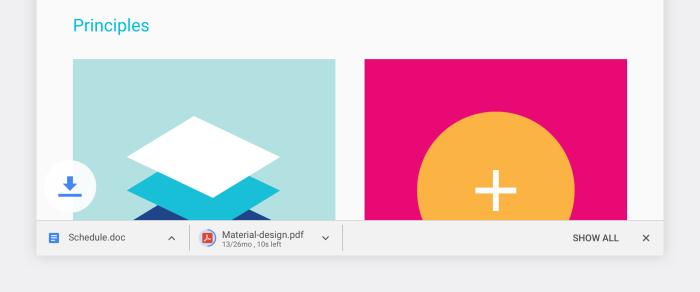 Google Chrome Material Design Notifications