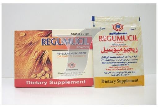 سعر ودواعى إستعمال دواء ريجيوميوسيل regumucil أكياس لعلاج الأمساك