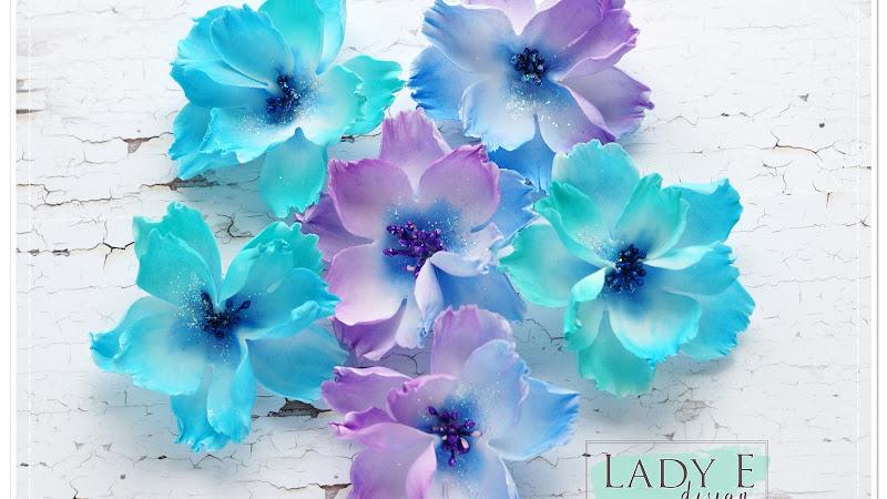 Foamiran + Lady E Design Flower 001 Die
