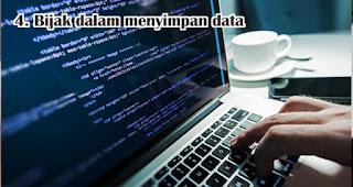 Bijak dalam menyimpan data