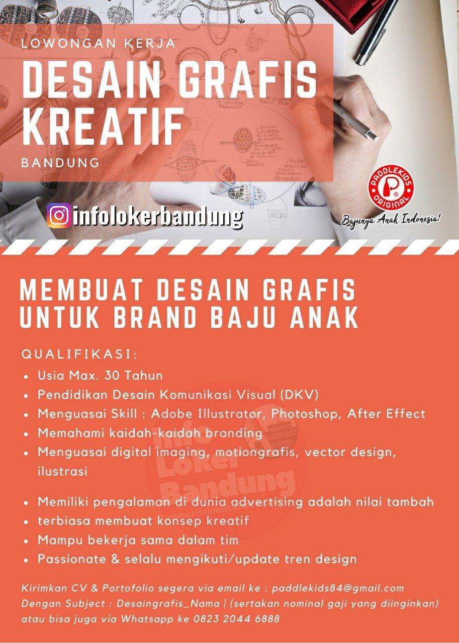 Lowongan Kerja Desain Grafis Paddlekids Bandung November 2019