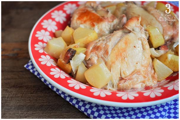 como fazer frango cozido pera