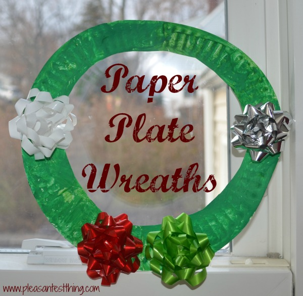 Easy Paper plate wreaths