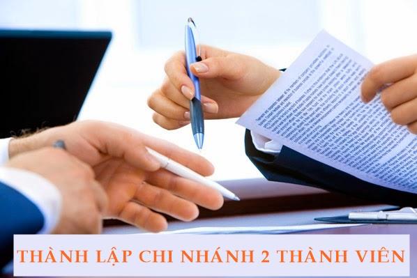 thành lập chi nhánh công ty TNHH hai thành viên trở lên